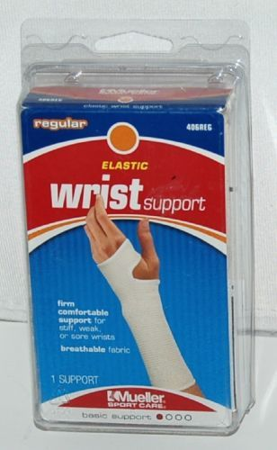 Mueller 406REG Elastic Wrist Support Size Regular Color White