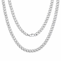 "Curb Chain Men Stainless Steel Necklace 5mm 26"" - $7.65"