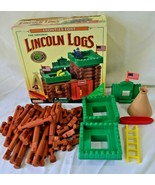 Vintage Original Lincoln Logs Frontier Fort Real Wooden Logs Missing Pieces - $24.99
