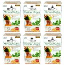 6 Packs of Hyleys 100% Natural Moringa Oleifera Green Tea with Mango, 25 teabags - $31.99