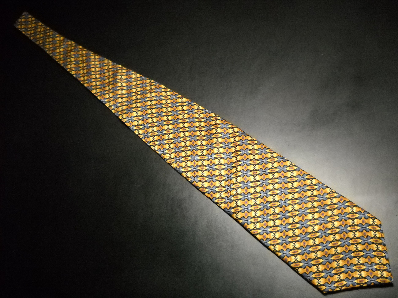 Charles Vinson Artisphere Neck Tie Golds Browns Blues Silk