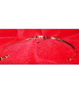 925 Sterling Silver wrist ankle bracelet gold plated Cubic Zirconias Sty... - $8.95