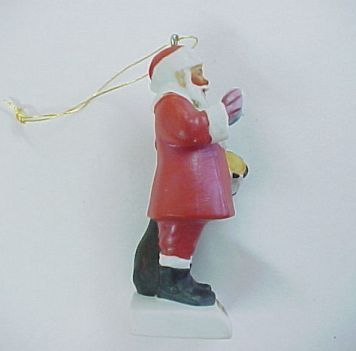 Vintage 1979 Norman Rockwell Santa Claus Figurine with Drum Christmas Ornament