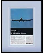 1966 Boeing Jets Framed 11x14 ORIGINAL Vintage Advertisement - $41.71