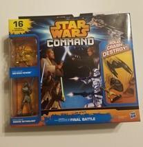 Star Wars Command Episode 3 Final Battle Kenobi Skywalker 16 figures & v... - $19.99