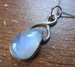 Blue Moonstone Teardrop 925 Sterling Silver Pendant Corona Sun Jewelry u... - $16.82