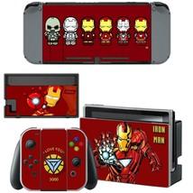 Nintendo Switch Console Joy-Con Vinyl Skins Stickers Iron Man Avengers Marvel - $6.92