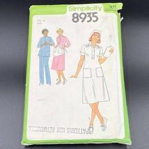 Vintage 1979 Nurse Uniform Dress Sewing Pattern Simplicity 8935 Tunic 19... - $18.95