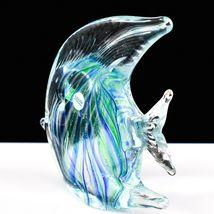 Dynasty Gallery Handmade Blue & Green Fish Glow in the Dark Art Glass Figurine image 3