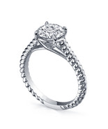14k White Gold Over 925 Sterling Silver Womens Diamond Engagement Solita... - $62.99