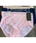 Laura Ashley ~ Womens Brief Underwear Panties Breathable Cool Mesh 3-Pai... - $18.69