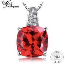 925 Sterling Silver 4.9ct Ruby Solitaire Pendant Necklace by Jewelry Palace - $23.76