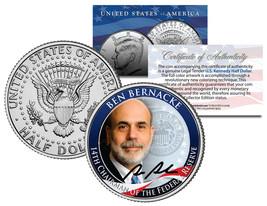 BEN BERNANKE *14th Chairman Federal Reserve* JFK Half Dollar US Colorize... - $8.86