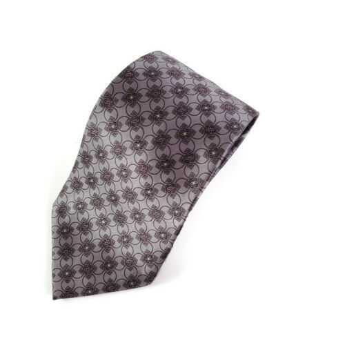 Primary image for Bill Blass Black Label Silver Geometric Squares Circles Silk Tie Necktie