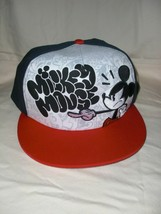 Wdw Disney Parks Angry Mickey Mouse Red & Black Baseball HAT/CAP Adult New W/T - $19.99