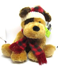 "Reese 2013 St Jude's Dog Plush in Red Plaid Scarf & Hat 12"" tall w/tags ... - $18.99"