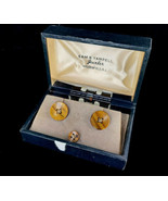Vintage Christian Dior 12k Gold Filled Tigers Eye Cufflinks and Tie Clip... - $116.99