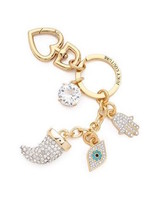 Juicy Couture Key Ring Purse Charm Eye Horn Hand NWD - $62.89