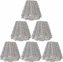 Urbanest Set of 6 Wicker Chandelier Lamp Shade, 3-inch by 6-inch by 5-inch, Clip - $69.29