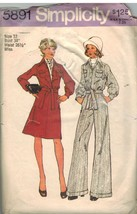 5891 Simplicity Sewing Pattern Misses Top Stitched Unlined Jacket Skirt ... - $6.64