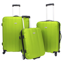 Traveler Choice Rome 3-Piece Green Hardside Spinner Rolling Luggage Set ... - $128.69