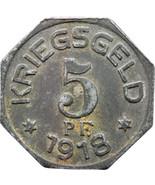 1918 5 Pfennig Gaildorf Stadt Oberamtsbezirk, Württemberg Notgeld German... - $15.00