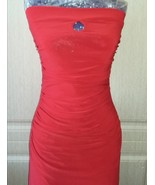 Vintage small red cocktail draped dress - $35.00