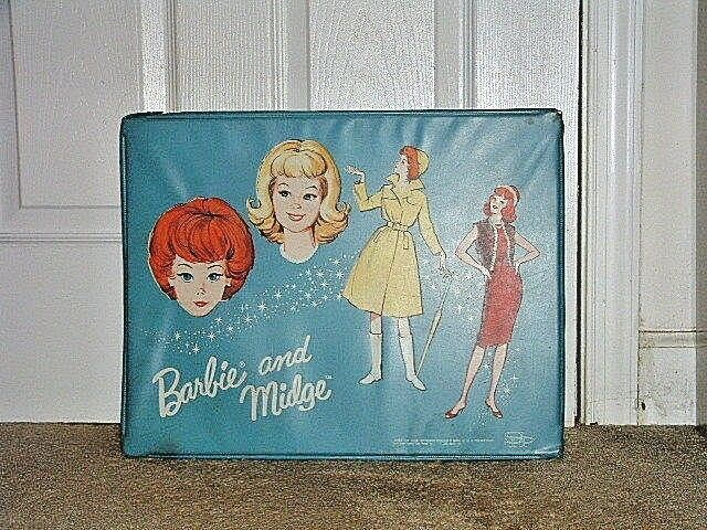 Primary image for Pre-Owned Vintage Mattel 1964 Barbie & Midge Case & Doll Lot
