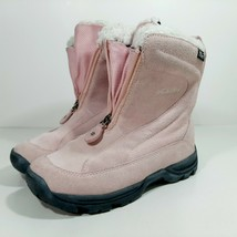 Columbia Vallara Women's Thermo Lite Pink Boots Size 6 Pink Suede Leather - $34.64