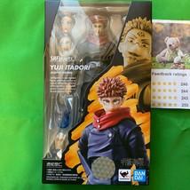 [pre] ju-jitsu kaisan yuji itadori s.h. figurines 15cm action figure bandai - $93.73