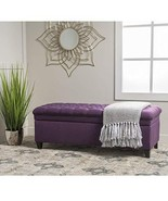Modern Transitional Button Tufted Fabric Upholstery Storage Ottoman with... - $197.67
