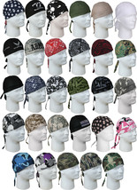 Headwrap Head Cover Do-Rag Bandana Scarf Military Biker Camo Cotton - $8.99