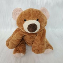 "8"" Ty Pluffies Slumbers Brown & Cream Stuffed Floppy Teddy Bear 2002 B220 - $19.97"