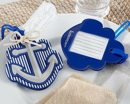 Anchors Away Nautical Themed Luggage Tag Destination Wedding Party Favor... - $7.88