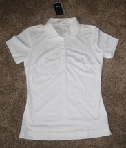 New Nike Tech Pique Golf Polo Shirt White Tennis 635388 100 Women's S SMALL $50 - $27.58