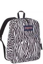 New Jansport Superbreak Backpack  JS00T15w8EY Black White Zebra School T... - $24.75