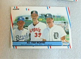 "1988 Fleer Baseball ""All Star Righties"" #626 Saberhagen Witt & Morris Ca... - $2.85"
