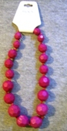 Ricki's Heavy bubble beaded Choker Style Necklace Fushia Color