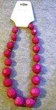 Ricki s hot pink beaded necklace item  13 thumb200