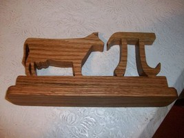 Wooden cow pi desk sign and display - $15.00