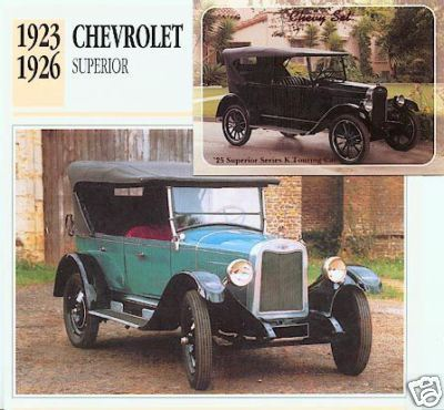 1925 25 CHEVY CHEVROLET SUPERIOR TOURER COLLECTOR
