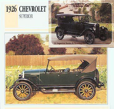 1926 26 1925 CHEVY CHEVROLET SUPERIOR SERIES COLLECTOR