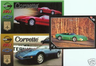 1991 91 CHEVROLET CHEVY CORVETTE VETTE COLLECTOR CARDS