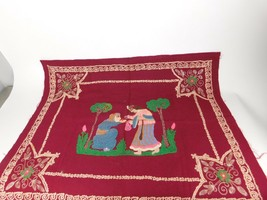 Vintage Wool Middle Eastern or Indian Tapestry Crewel ? - $63.75