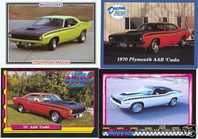 1970 70 PLYMOUTH AAR CUDA 340 BARRACUDA SPEC FACT CARDS