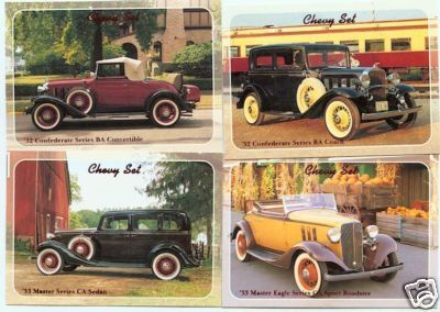 1932 32 1933 33 CHEVY CONFEDERATE MASTER SERIES CA BA