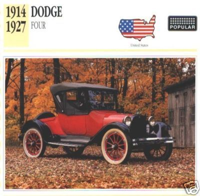 1914 - 1927 DODGE FOUR COLLECTOR COLLECTIBLE
