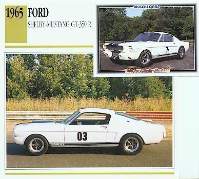 1965 65 FORD SHELBY MUSTANG G.T.350 GT350 R RACE 289