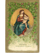Madonna and The Baby Jesus vintage 1909 Post Card - $5.00