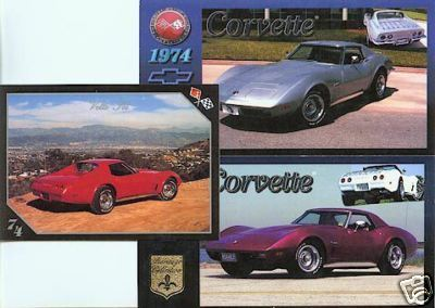 1974 74 CHEVY CORVETTE VETTE VETTES COLLECTIBLE NICE